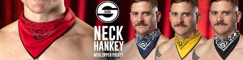 NEW NECK HANKEYS WITH ZIPPER POCKET